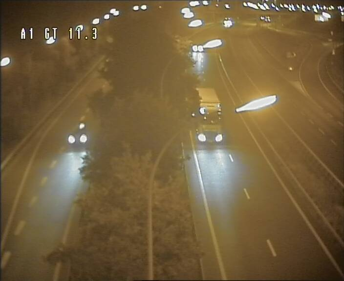 Traffic live webcam Luxembourg Senningerberg - A1 direction Allemagne - BK 11.3