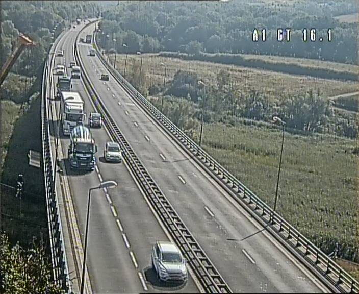 Traffic live webcam Luxembourg Niederanven - A1 direction Allemagne - BK 16.1