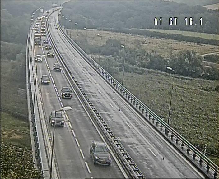 Traffic live webcam Luxembourg Niederanven - A1 direction Allemagne - BK 16.1