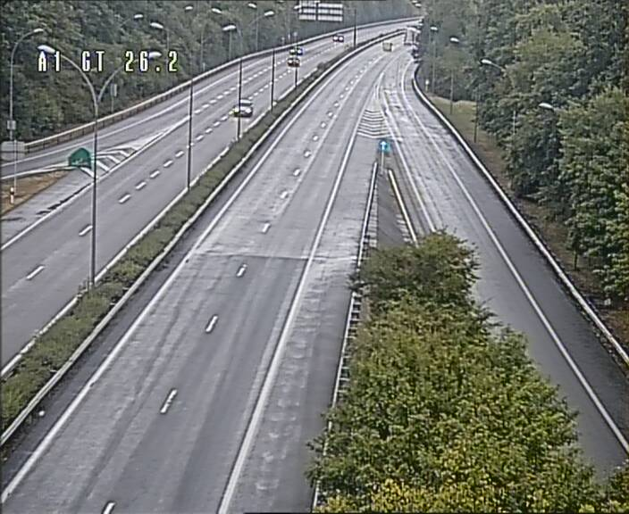 Traffic live webcam Luxembourg Grevenmacher - A1 direction Allemagne - BK 26.2