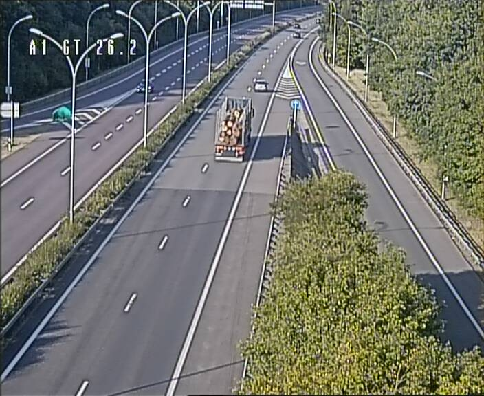Traffic live webcam Luxembourg Grevenmacher - A1 direction Allemagne - BK 26.2