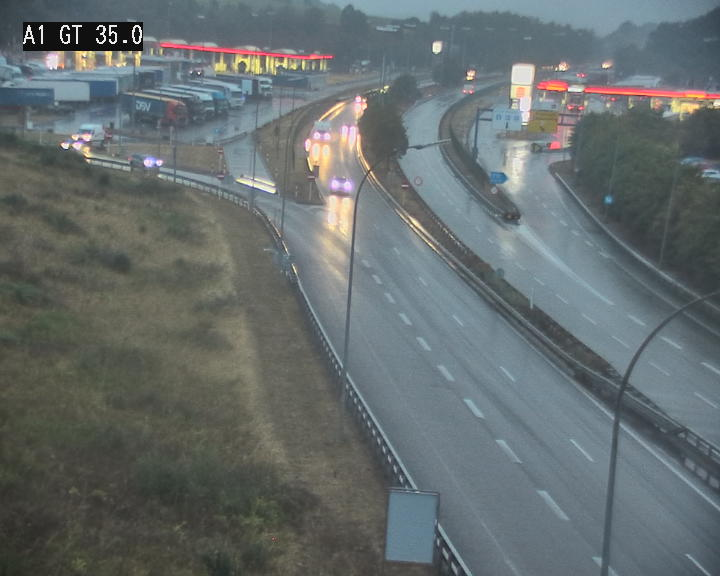 Traffic live webcam Luxembourg Wasserbillig - A1 direction Luxembourg - BK 35.1