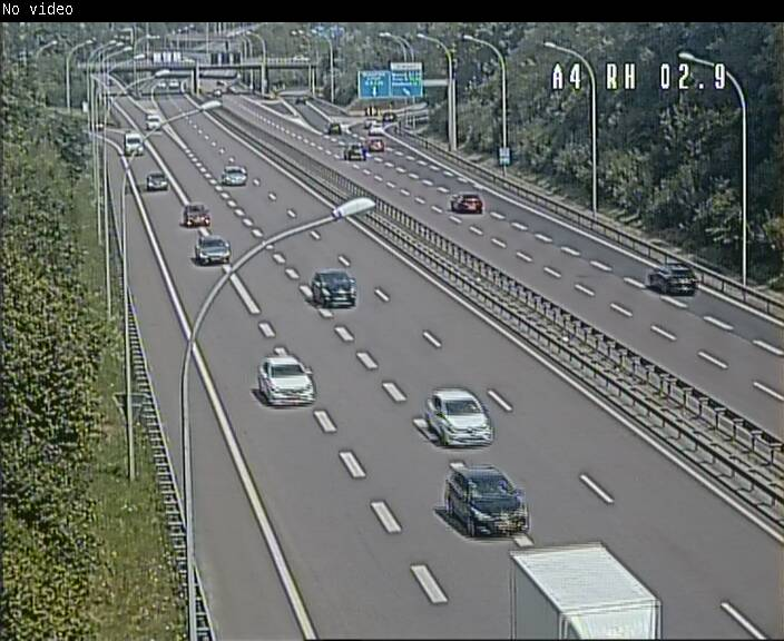 Webcam traffic A4 Luxembourg - BK 2.9 - Croix de Cessange (direction Luxembourg)