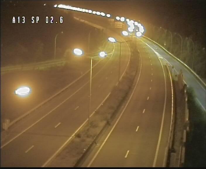 Traffic live webcam Luxembourg Sanem - A13 direction Pétange - BK 2.6