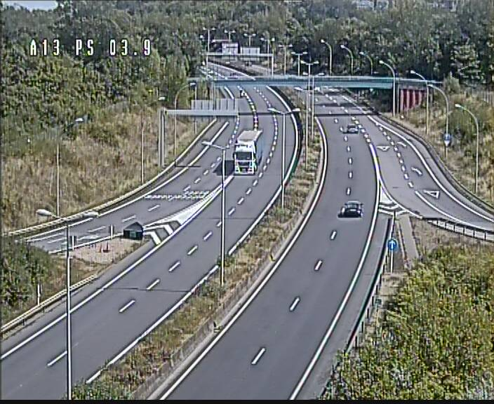 Traffic live webcam Luxembourg Differdange - A13 direction Esch-sur-Alzette - BK 3.9
