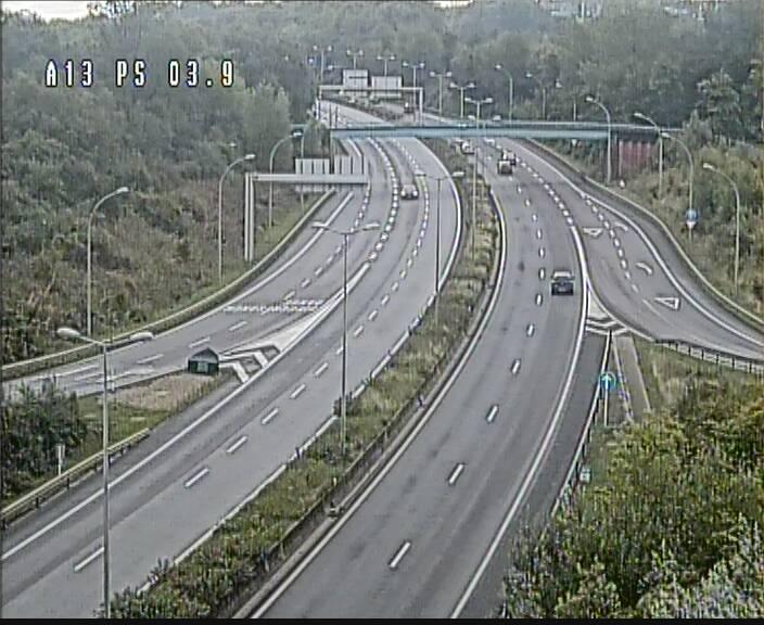 Traffic live webcam Luxembourg Differdange - A13 direction Esch-sur-Alzette - BK 3.9