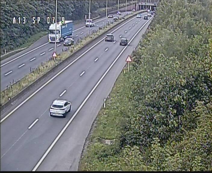 Traffic live webcam Luxembourg Jonction Lankelz - A13 direction Pétange - BK 7.9
