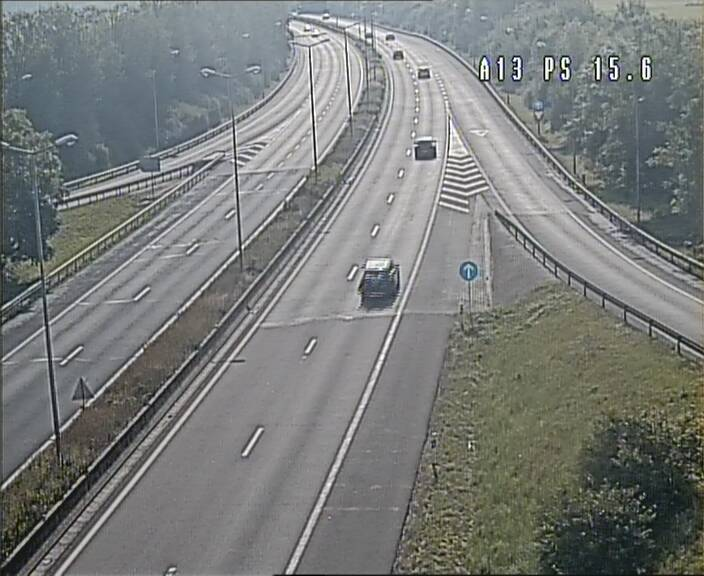 Traffic live webcam Luxembourg Kayl - A13 direction Dudelange - BK 15.6