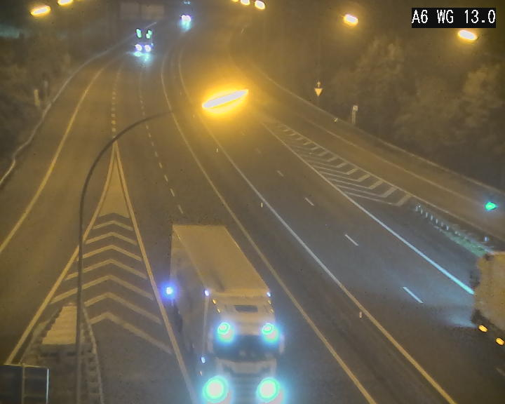 Traffic live webcam Luxembourg Mamer - A6 - BK 13 - direction Luxembourg/France/Allemagne