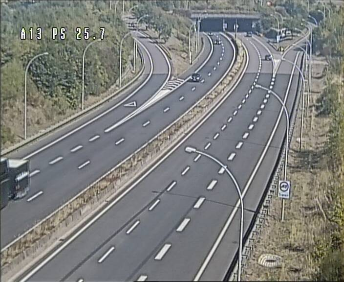 Traffic live webcam Luxembourg Frisange - A13 direction Allemagne - BK 26