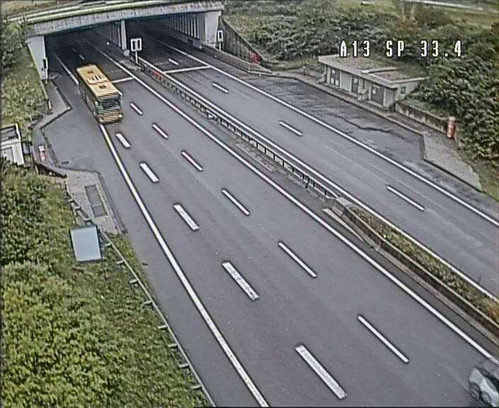 Webcam trafic sur A13 à hauteur d'Altwies en direction de Mondorf-les-bains et en provenance de l'Allemagne