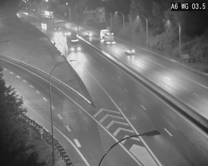 Traffic live webcam Luxembourg - Croix de Cessange - A6 - BK 3.5 - direction France/Allemagne