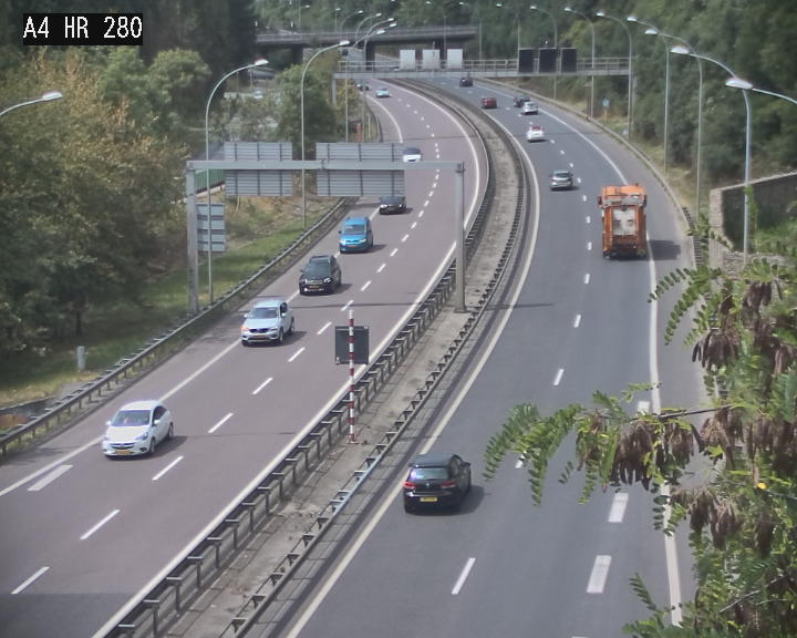 Webcam traffic A4 Luxembourg - BK 0.2 - P+R Bouillon (direction Luxembourg)
