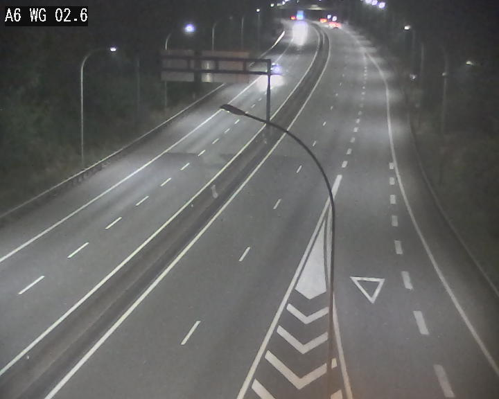 Traffic live webcam Luxembourg Croix de Cessange - A6 - BK 2.6 - direction France/Allemagne