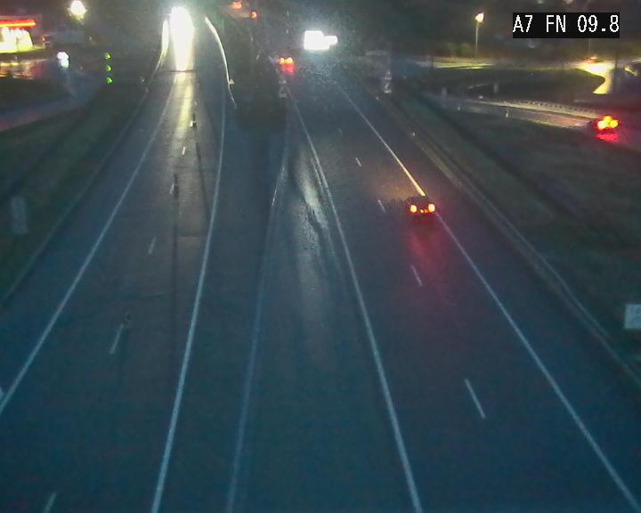 Caméra trafic Luxembourg - A7, Tunnel Gousselerbierg, sortie sud, direction rond-point Lorentzweiler (BK 9.9)