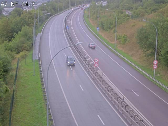 Caméra trafic Luxembourg - A7, Schieren direction Mersch