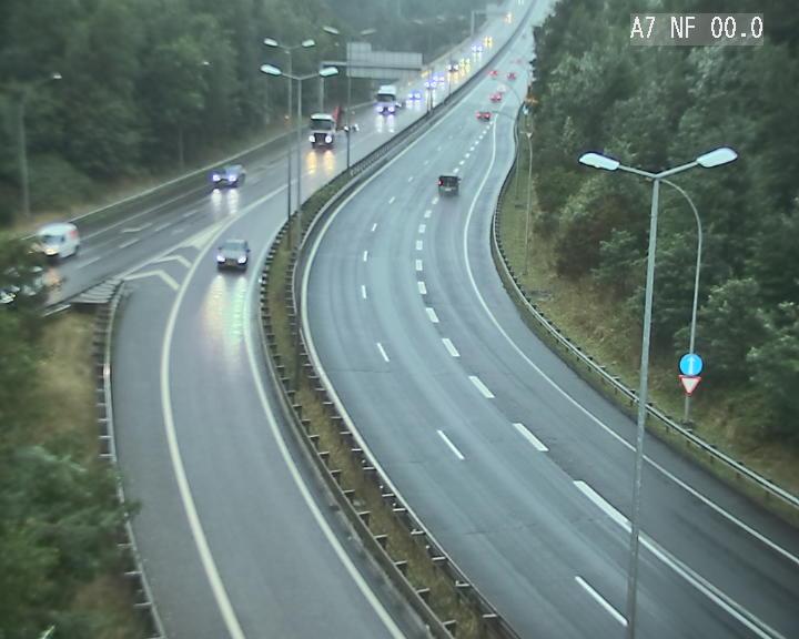 Caméra autoroute Luxembourg A7 - Echangeur A1/A7 Grünewald direction Tunnel Stafelter
