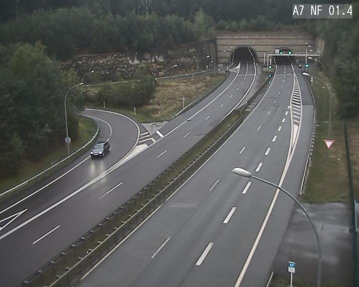 Caméra autoroute Luxembourg A7 - Echangeur Waldhaff - direction Tunnel Stafelter
