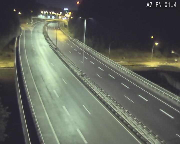 Caméra autoroute Luxembourg A7 - Tunnel Stafelter - direction Echangeur Grünewald