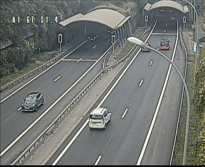 Traffic live webcam Luxembourg Hesperange - A1 direction Kirchberg - BK 1.4