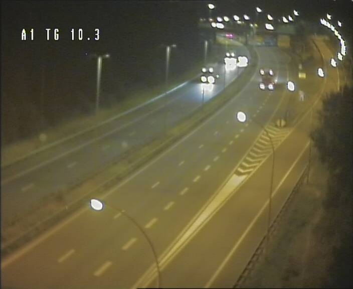 Traffic live webcam Luxembourg Senningerberg - A1 direction Luxembourg Kirchberg - BK 10.3